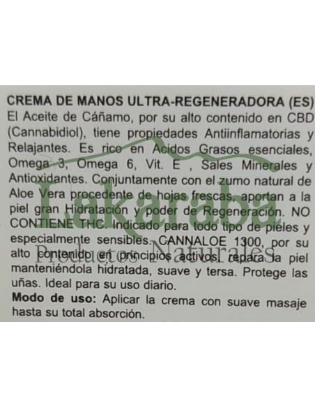 Crema de manos Ultra-Regeneradora Cannaloe 1300 100ml