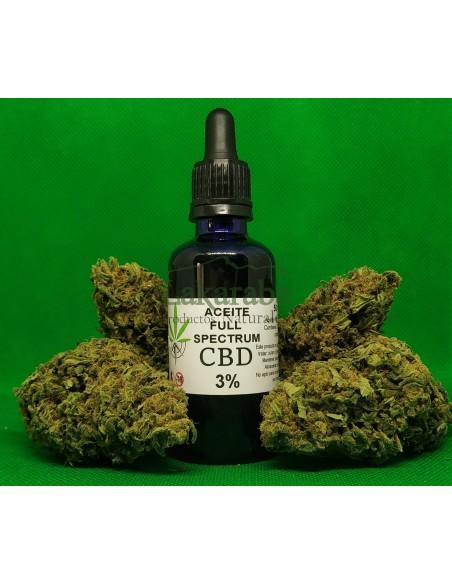 Aceite CBD 3% Full Spectrum con gotero 10ml 30ml 50ml
