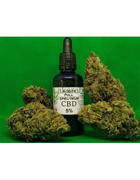 Aceite CBD 5% Full Spectrum con gotero 10ml 30ml 50ml